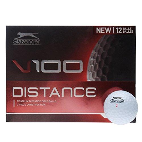 Slazenger Unisex V1 Distance Golfbälle, 12 Stück