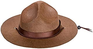Kangaroo Adult Canadian Mountie Hat, Park Ranger Hat or Drill Sergeant Brown Hat