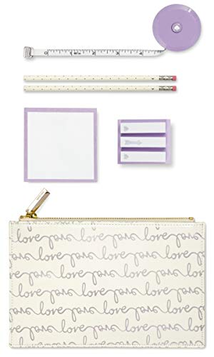 Kate Spade New York Love Pencil Pouch Silver One Size