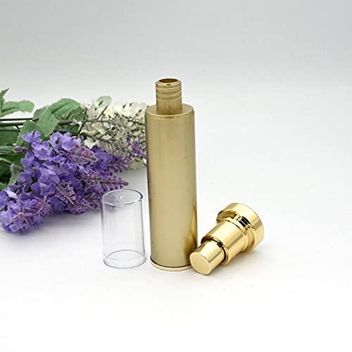 20M Cosméticos Botella de aire Spray Botella Emulsión Botella Ojo Crema BB Crema Líquido Botella inferior 30ml Tarro de vacío Color Oro