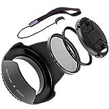 LUMOS Kit d'accessoires 67 mm   Pare-soleil d'objectif, filtre de...
