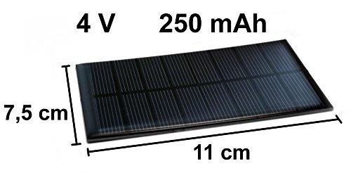 Solarzelle 4V 250mAh NEU Solar Solarmodul 11cm x 7,5cm Mini Kleine Hobby Zelle