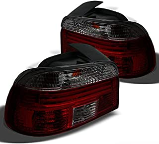 Xtune for Red Smoked 1997-2000 BMW E39 5-Series Tail Lights Lamp Pair Left+Right/1998 1999NOT FIT Wagon