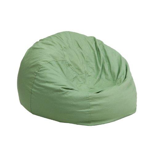 Flash Furniture Small Solid Green Kids Bean Bag Chair
