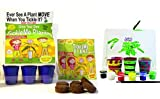 TickleMe Plant Deluxe Greenhouse Kit with 6 Color Paint Set for Kids with 10 Fun Activities. Grow The House Plant That Closes its Leaves