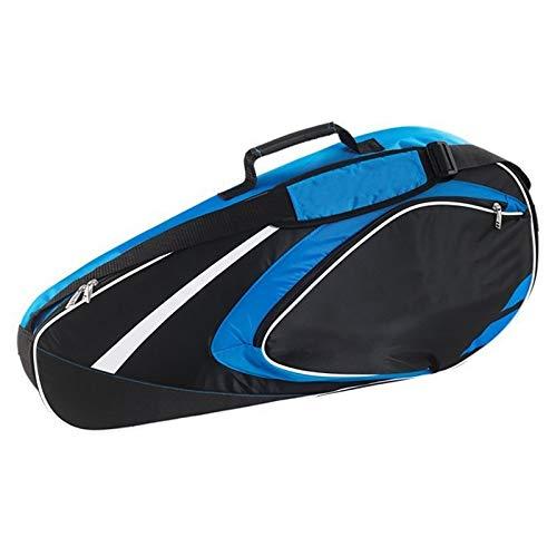Jetta King Bolsa de Tenis, 4-6 Paquetes de Hombres Impermeable Espesado y Resistente al Desgaste y Mujeres de bádminton Raqueta de Tenis Bolsas (Color : Blue)