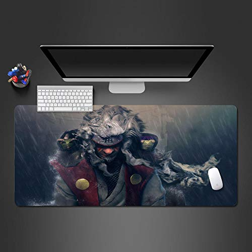 JIACHOZI Mouse Pads for Desk Dark Anime Heroes Characters 700×300×3mm Large Gaming Mouse Pad with Stitched Edges, Extended Mousepad with Superior Micro-Weave Cloth, Non-Slip Base, Keyboard Pad,