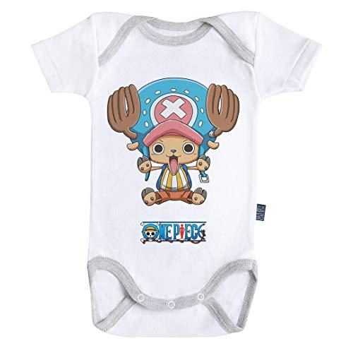 Baby Geek Chopper - Free Hugs - One Piece ™ - Licence Officielle - Body Bébé Manches Courtes (3-6 Mois)