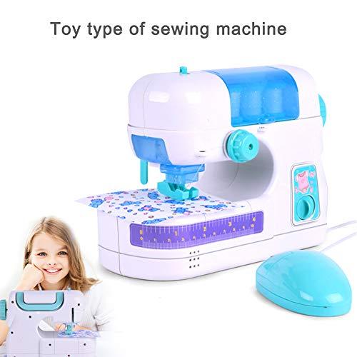 bromrefulgenc Electric Sewing Machine Toy, Simulation Home Furniture Game for Girls Toys