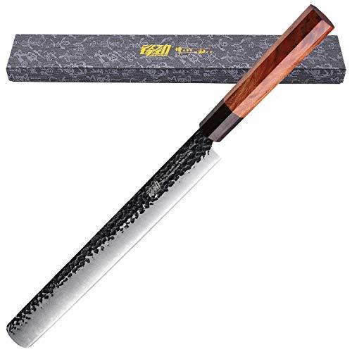 FINDKING 12 Zoll Slicing Carving Knife Dynasty Serie-3-Schicht 9CR18MOV plattierter Stahl mit Achteck Griff Bruststück Messer Schinkenmesser