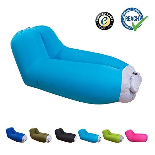 eGuenuss Luftmatratzen aufblasbare Liege/Sofa mit Rückenlehne