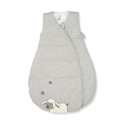 Sterntaler Schlafsack für Kleinkinder, Ganzjährig, Funktionsschlafsack Schaf Stanley, Reißverschluss, Größe: 90, Grau