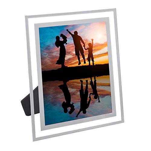 Xianheng1 フォトフレーム ガラス 写真立て L判 写真フレーム a4 ガラス額縁 透明 フォトスタンド 横縦置き 賞状額 写真スタンド 賞状 高級感 スタンド 額縁 ピクチャーフレーム 卓上 おしゃれ 立て置き 展示ピクチャー 絵画 A4 記念写真 KG(10.1*15.2cm)