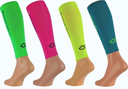 Sport Kompressions Tubes \'under pressure\' Runattack (Kompression: 20-22mmHg) (neon pink, M Wadenumfang: 30-38cm))