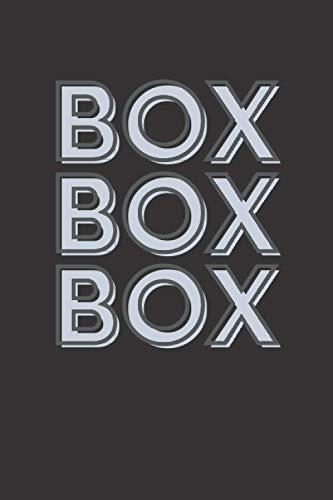 Box Box Box: F1 Radio Message (Formula 1 Notebook)