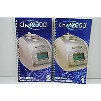 Dos RECETARIOS Robot para Robot DE Cocina Chef 2000 Turbo Inteligente