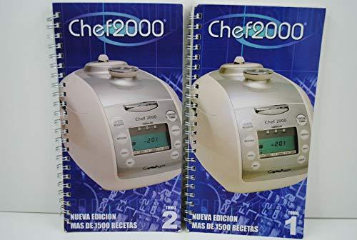 Dos RECETARIOS Robot para Robot DE Cocina Chef 2000...