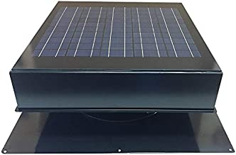 Remington Solar 20-Watt Solar Attic Fan (Grey) with Thermostat/Humidistat (22 x 22 x 11 in) - Brushless Motor – Hail and Weather Resistant Solar Vent Fan – Solar Powered Attic Fan for Homes