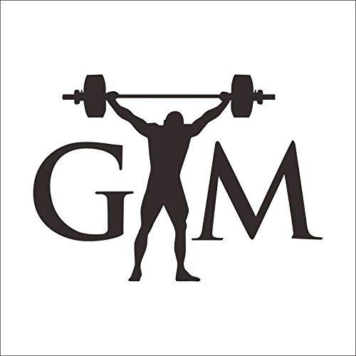 DCTAL GYM Applique Logo Name GYM Aufkleber Aufkleber Sport Männer Frau Fitness Hantel Vinyl Wandaufkleber Applique Bodybuilder Gym Home 10x14cm