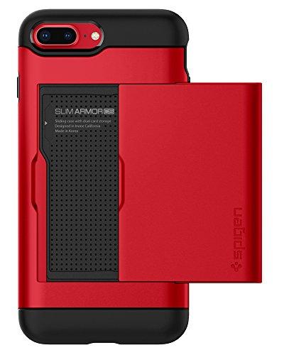 Spigen Cover Slim Armor CS Compatibile con Compatibile con iPhone 8 Plus Compatibile con iPhone 7 Plus - Red