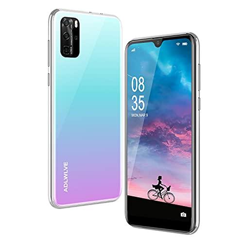 Moviles Libres Baratos 4G,6.3Pulgadas 3GB RAM 32GB ROM / 64GB Smartphone Libre Android 9.0 Face ID teléfonos móviles gratuitos, 8MP 4600mAh,Dual SIM Quad Core Moviles Buenos (Blanco)