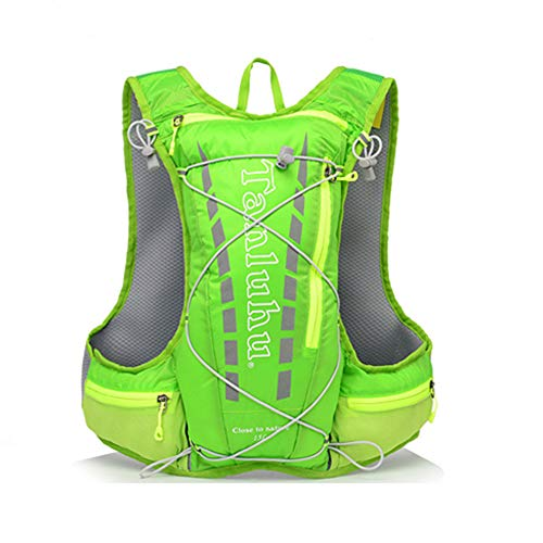 Lightweight Running Hydration Vest Backpack 15L Outdoor Trail Running Cycling Marathon Hiking Climbing Outdoor Sport Bag with 2L Water Bag, 500ML Water Bottle