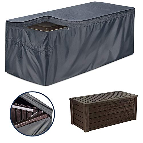 EPCOVER Patio Deck Box Cover to Protect Large Deck BoxesWaterproof Cover with Zipper and Handles 62quot L x 30quot W x 28quot H