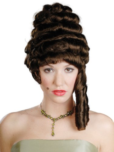 Enigma Wigs Women's Colonial Lady, Brown, One Size