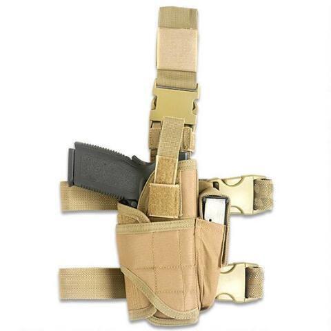 Funda táctica de pistola para pierna ajustable de Htuk®, canela