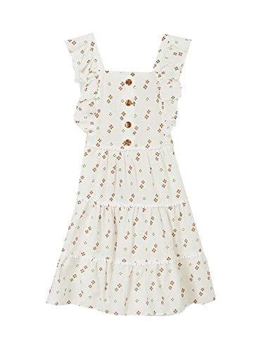 Vestido Mayoral Estampado Blanco para Niña 10 años