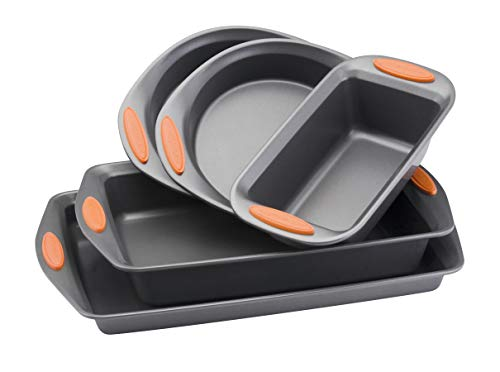 Rachael Ray Oven Lovin' Non-Stick 5-Piece Bakeware Set, Orange