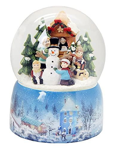 Minium Collection 20064 - Bola de nieve para niños (base de porcelana, 150 mm de diámetro, con música)
