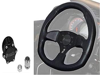 Quick-Release Steering Wheel Kit by Dragonfire Racing fits All Polaris UTV RZR 570 900 1000 XP Turbo Ranger General