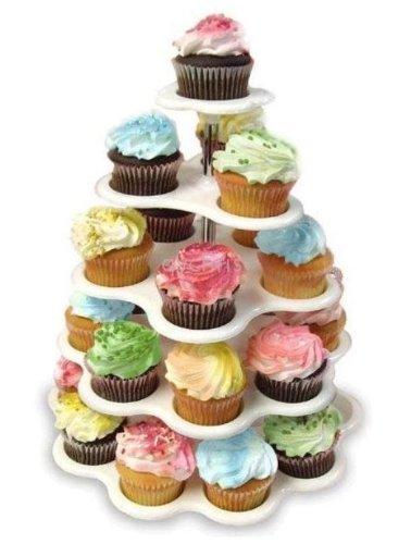 27 Count 5 Tier Cupcake Dessert Holder Stand Cake Muffin Wedding Birthday Party