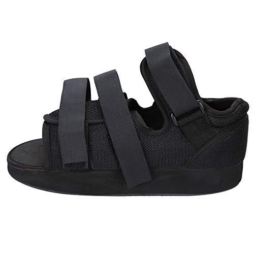 Materiales ligeros semiabiertos que favorecen el flujo de aire Zapato de yeso, bota de yeso con protección para los pies, bota para caminar con puntera, cirugía de(black, S)