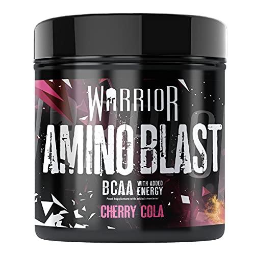 Amino Blast BCAA Powder - Pre-Workout Energy Drink 30 Servings - Cherry Cola | Warrior Supplements
