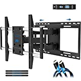 Mounting Dream TV Mount with Sliding Design for 42-70 Inch TVs, Easy for TV Centering on Wall, Full Motion TV Wall Mount Fits Most Smart OLED TVs - Easy to Install on 16'~ 24' Studs, Extend to 19'