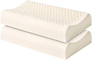 2pcs Látex Almohada, látex natural almohada de masaje for el estrés Alivio suave y transpirable Orgánica de látex Almohada Cervical Promover la circulación sanguínea y mejorar la calidad de dormir