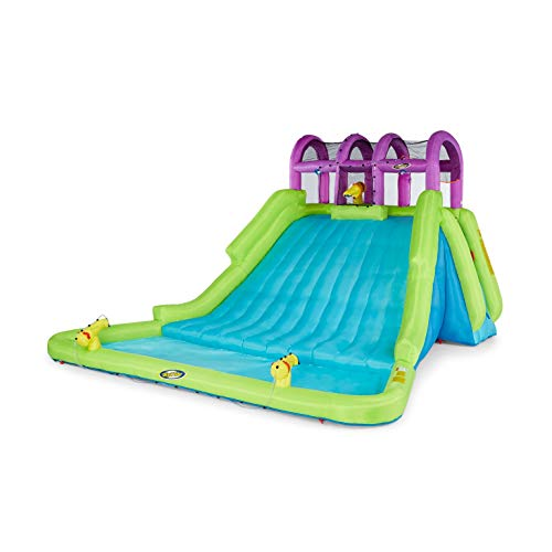 Kahuna 90808 Mega Blast Inflatable Backyard Kids Pool and Slide Water Park with Triple Water Cannons Splash Pool and Climbing Wall