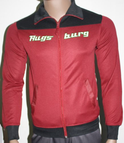 Do You Football FC Augsburg FCA Jacke Rot Gr. XS mit Kragen Bundesliga Fan-Artikel