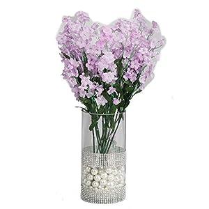 Silk Flower Arrangements BalsaCircle 32 Lavender Silk Baby Breath Artificial Flowers - 12 Bushes - Wedding Party Centerpieces Arrangements Bouquets Supplies