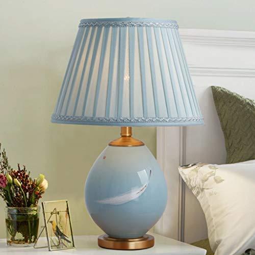 Lfixhssf keramiek tafellamp blauw 21