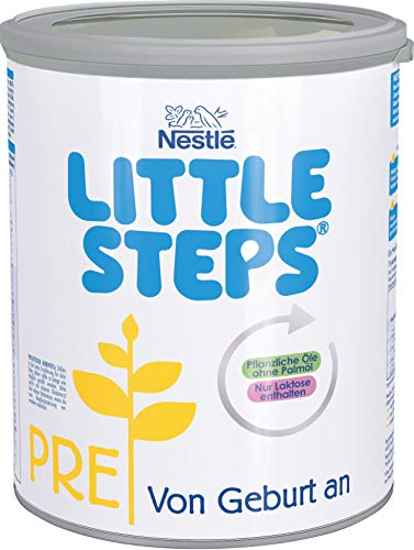 Nestlé LITTLE STEPS PRE Anfangsnahrung, von Geburt an, 1er Pack (1 x 800g)