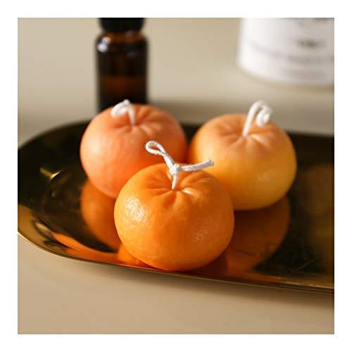 HONGTAI 6x5.8cm Orange Kerze Silikon-Form-Frucht-Form-Mousse Backformen for Kerzenherstellung Schimmelpilze