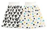 EOZY 2Pcs Jupe à Couches pour Bébé Coton Jupe d'apprentissage Propreté Lavables Jupe de Couche-Culotte Enfant Taille Haute Pantalon Anti-Fuite pour Bon Sommeil (Dessin Cœur, 4-8 Ans)