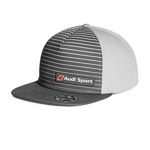 Audi 3131802400 Snapback Cap Basecap Mütze Sport Kappe, 57-62cm, Grau