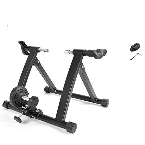 Yzibei Indoor Bike Trainer Magnetic Resistance Indoor Bike Trainer Stand beweegbare opvouwbare voor 26 - 28 inch fiets met voorwiel blokkeren