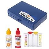 BIlinli Kit de Prueba de Calidad del Agua con Cloro pH Tester de Acuario de hidroponía para Piscinas