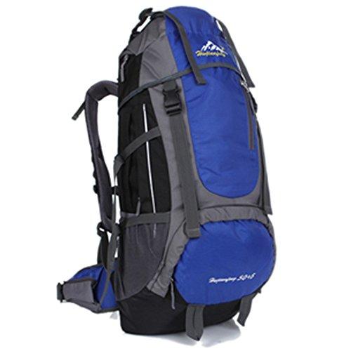 Sac à dos de voyage 55L Sac à dos de randonnée pour voyage escalade de sports Outdoor Leisure avec housse de pluie Ws-55lpack, bleu marine