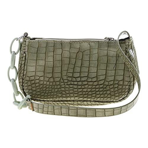 GLASSNOBLE Bolso de hombro con patrón de cocodrilo, bolso de las axilas, bolso de hombro, color verde